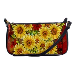 Sunflowers Flowers Abstract Shoulder Clutch Bags