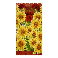 Sunflowers Flowers Abstract Shower Curtain 36  x 72  (Stall)