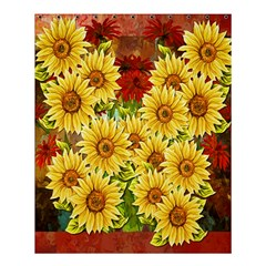 Sunflowers Flowers Abstract Shower Curtain 60  x 72  (Medium)