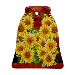 Sunflowers Flowers Abstract Bell Ornament (Two Sides)