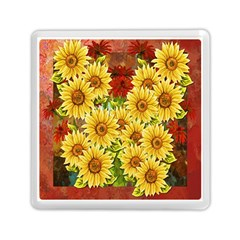 Sunflowers Flowers Abstract Memory Card Reader (Square)