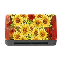 Sunflowers Flowers Abstract Memory Card Reader with CF