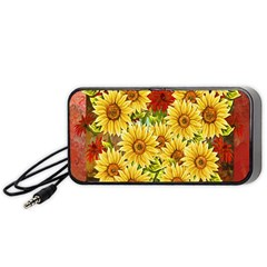 Sunflowers Flowers Abstract Portable Speaker (Black)