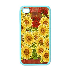 Sunflowers Flowers Abstract Apple iPhone 4 Case (Color)