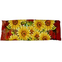 Sunflowers Flowers Abstract Body Pillow Case Dakimakura (two Sides)