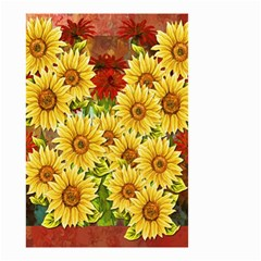 Sunflowers Flowers Abstract Small Garden Flag (Two Sides)
