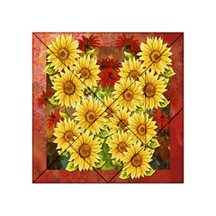 Sunflowers Flowers Abstract Acrylic Tangram Puzzle (4  X 4 )