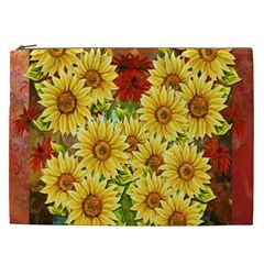 Sunflowers Flowers Abstract Cosmetic Bag (XXL)
