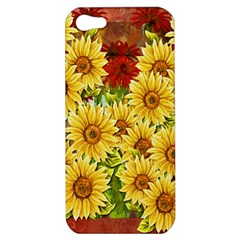 Sunflowers Flowers Abstract Apple Iphone 5 Hardshell Case