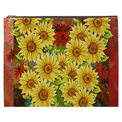 Sunflowers Flowers Abstract Cosmetic Bag (xxxl)