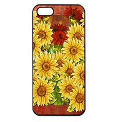 Sunflowers Flowers Abstract Apple Iphone 5 Seamless Case (black)