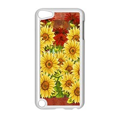 Sunflowers Flowers Abstract Apple Ipod Touch 5 Case (white)