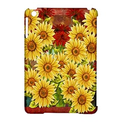 Sunflowers Flowers Abstract Apple Ipad Mini Hardshell Case (compatible With Smart Cover)