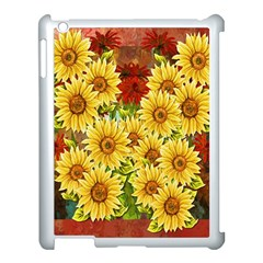 Sunflowers Flowers Abstract Apple Ipad 3/4 Case (white)