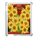Sunflowers Flowers Abstract Apple iPad 3/4 Case (White) Front