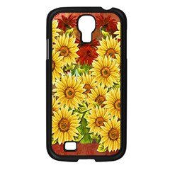 Sunflowers Flowers Abstract Samsung Galaxy S4 I9500/ I9505 Case (black)
