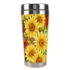 Sunflowers Flowers Abstract Stainless Steel Travel Tumblers
