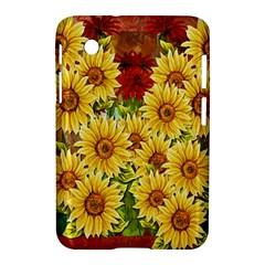 Sunflowers Flowers Abstract Samsung Galaxy Tab 2 (7 ) P3100 Hardshell Case