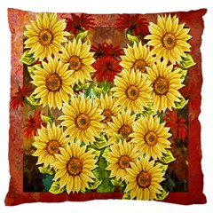 Sunflowers Flowers Abstract Standard Flano Cushion Case (two Sides)