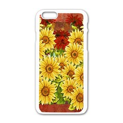 Sunflowers Flowers Abstract Apple Iphone 6/6s White Enamel Case