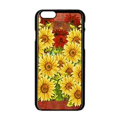 Sunflowers Flowers Abstract Apple Iphone 6/6s Black Enamel Case