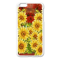 Sunflowers Flowers Abstract Apple Iphone 6 Plus/6s Plus Enamel White Case