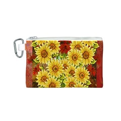 Sunflowers Flowers Abstract Canvas Cosmetic Bag (s)