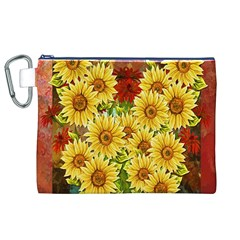 Sunflowers Flowers Abstract Canvas Cosmetic Bag (XL)