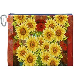 Sunflowers Flowers Abstract Canvas Cosmetic Bag (xxxl)
