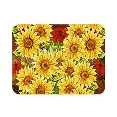 Sunflowers Flowers Abstract Double Sided Flano Blanket (Mini)