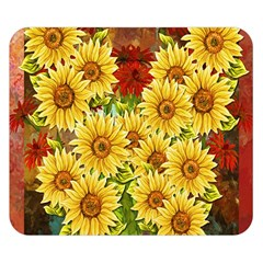 Sunflowers Flowers Abstract Double Sided Flano Blanket (Small)