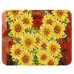 Sunflowers Flowers Abstract Double Sided Flano Blanket (medium)
