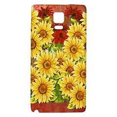 Sunflowers Flowers Abstract Galaxy Note 4 Back Case