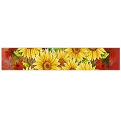 Sunflowers Flowers Abstract Flano Scarf (Large)
