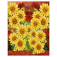 Sunflowers Flowers Abstract Drawstring Bag (large)