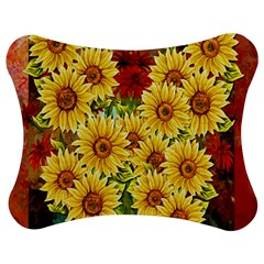 Sunflowers Flowers Abstract Jigsaw Puzzle Photo Stand (Bow)