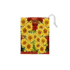 Sunflowers Flowers Abstract Drawstring Pouches (XS)