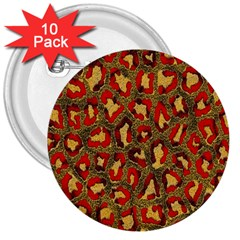 Stylized Background For Scrapbooking Or Other 3  Buttons (10 pack)