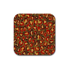 Stylized Background For Scrapbooking Or Other Rubber Square Coaster (4 pack)