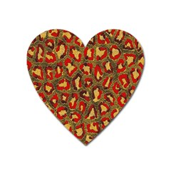 Stylized Background For Scrapbooking Or Other Heart Magnet