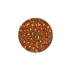 Stylized Background For Scrapbooking Or Other Golf Ball Marker