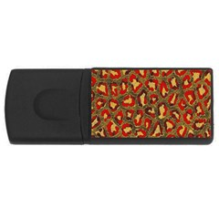 Stylized Background For Scrapbooking Or Other USB Flash Drive Rectangular (2 GB)