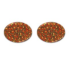 Stylized Background For Scrapbooking Or Other Cufflinks (Oval)