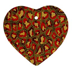 Stylized Background For Scrapbooking Or Other Heart Ornament (two Sides)