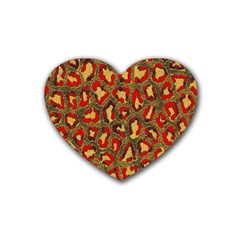 Stylized Background For Scrapbooking Or Other Heart Coaster (4 pack)