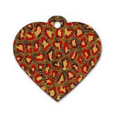 Stylized Background For Scrapbooking Or Other Dog Tag Heart (one Side)