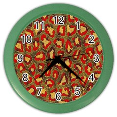 Stylized Background For Scrapbooking Or Other Color Wall Clocks