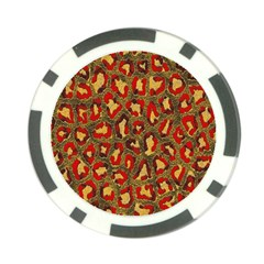 Stylized Background For Scrapbooking Or Other Poker Chip Card Guard