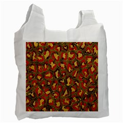 Stylized Background For Scrapbooking Or Other Recycle Bag (two Side)