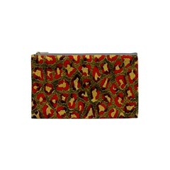 Stylized Background For Scrapbooking Or Other Cosmetic Bag (Small)
